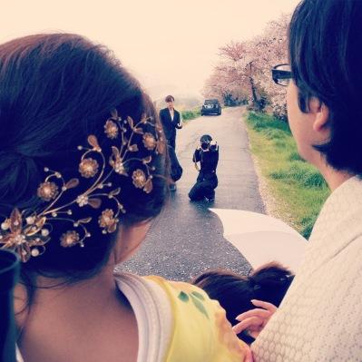 桜の前撮り1